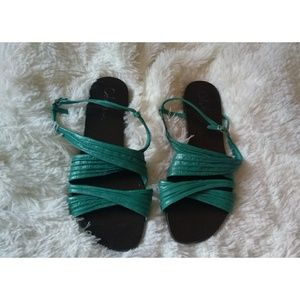Cole Haan teal strappy flat sandal size 8.5